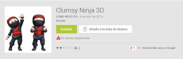 Clumsy Ninja falso