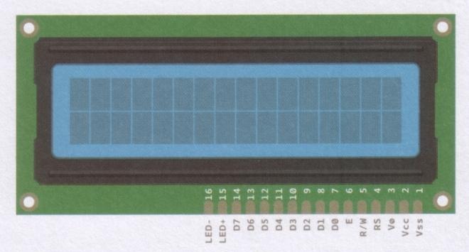 Pins a conectar en el LCD