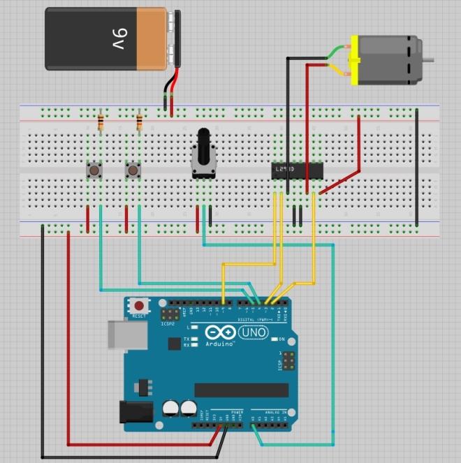 Zoetrope - Diseño de protoboard