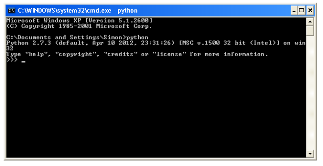 python_from_dos