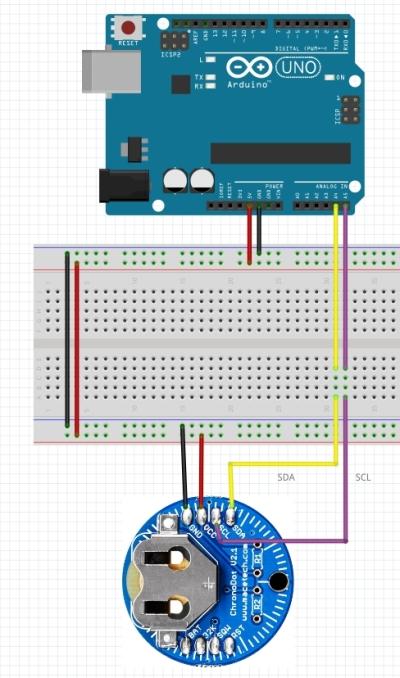 Reloj digital en tiempo real - Diseño de protoboard